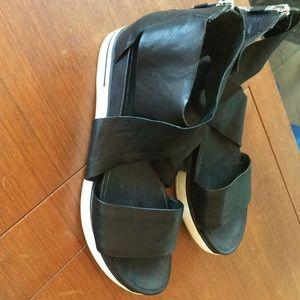 Eileen Fisher Leather platform sandals